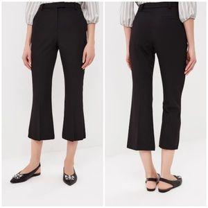 Topshop flat front slim kick flare crop pants
